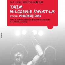 TAZM poster, Wrocław 22-25 January 2015, graphic design Barbara Bergner-Kaczmarek