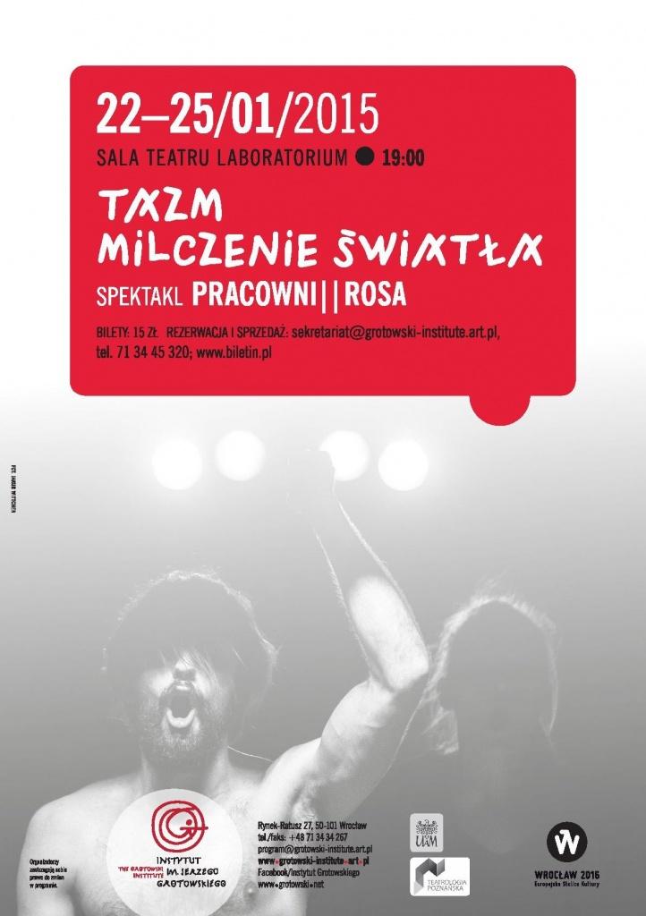 TAZM, Wrocław 22-25 January 2015, graphic design Barbara Bergner-Kaczmarek