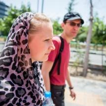 Maria Bohdziewicz and Grzegorz Ziółkowski in Tehran, photo Maciej Zakrzewski