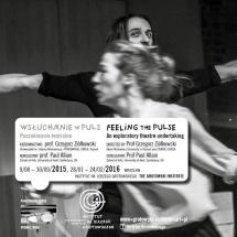 Wsłuchanie w PULS || Feeling the PULSE, 2016, graphic design Barbara Bergner-Kaczmarek
